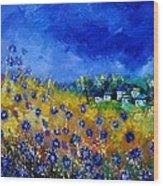 Blue Cornflowers 774180 Wood Print