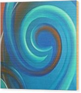 Cosmic Swirl By Reina Cottier Wood Print