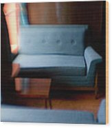 Blue Couch Starlite Lounge Wood Print