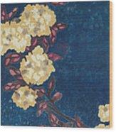 Blue Cream Wood Print