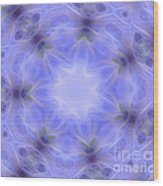 Blue Crystallized 1  Wood Print