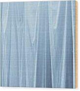 Blue Curtain Wood Print