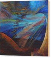 Blue Depth Wood Print