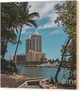 Blue Diamond Condos Miami Beach Wood Print