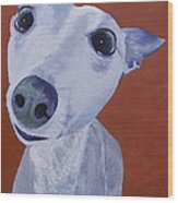 Blue Dog Wood Print