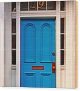 Blue Door 19 Wood Print