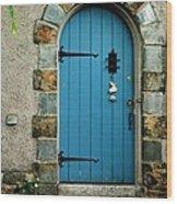 Blue Door In Baltimore Wood Print