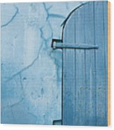 Blue Door In St. Thomas Virgin Islands Wood Print