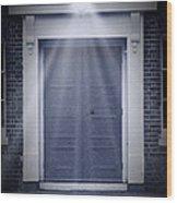 Blue Door Wood Print by Svetlana Sewell