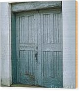Blue Doors On Brewer Street Wood Print