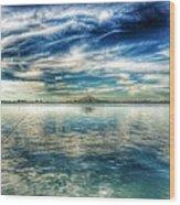 Blue Dream Fishing Wood Print