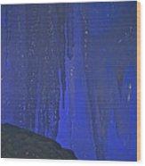 Blue Drip Wood Print