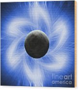 Blue Eclipse Wood Print