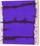 Blue Element Wood Print