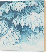 Blue Wood Print by Elizabeth Dobbs
