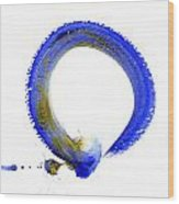 Blue Enso Wood Print