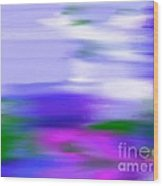 Blue Evening Mist Wood Print