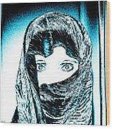 Blue Eye Lady Wood Print