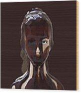 Blue Eye Of A Chocolate Doll Wood Print