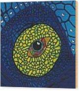 Blue Eye Wood Print