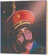 Blue Eyed General Wood Print