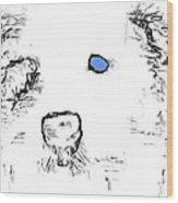 Blue Eyed Pup Wood Print