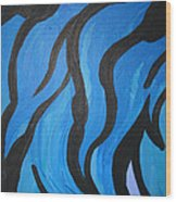 Blue Flames Of Healing Wood Print