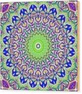 Blue Flares Wood Print