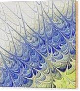 Blue Folium Wood Print