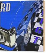 Blue Ford 351 Gt Wood Print