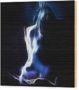 Blue Form 4022 Wood Print