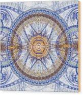 Blue Fractal Inception  Wood Print