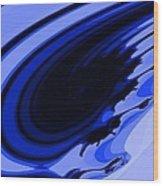 Blue Fractal Wood Print