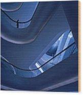 Blue Future Wood Print