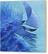 Blue Gem Wood Print