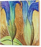 Blue Gentian Wood Print