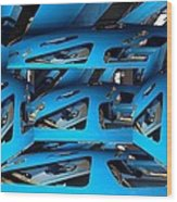 Blue Girder Wood Print