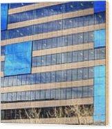 Blue Glass Reflections 4993 Wood Print