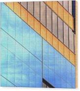 Blue Glass Reflections 4999 Wood Print