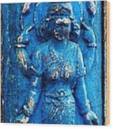 Blue Goddess Wood Print