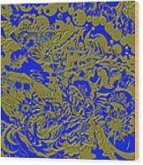 Blue Gold 40 Wood Print