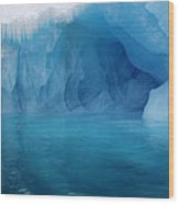 Blue Grotto Wood Print by Ginny Barklow