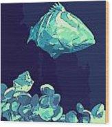 Blue Grouper Wood Print