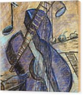 Blue Guitar - About Pablo Picasso Wood Print