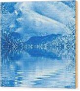 Blue Healing Wood Print