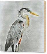 Blue Heron 3 Wood Print