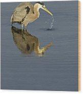 Blue Heron   #7783 Wood Print