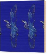 Blue Heron Ballet Wood Print