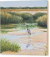 Blue Heron Wood Print by Karol Wyckoff