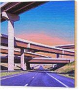 Blue Highway 7 Wood Print